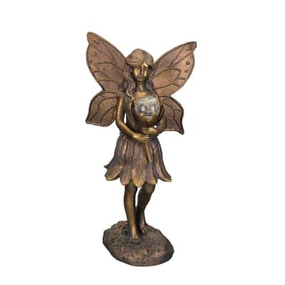 Regal Outdoor Solar Fairy Garden Statue