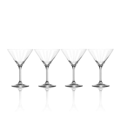 "Mikasa ""Berlin"" Set of 4 Martini Glasses"