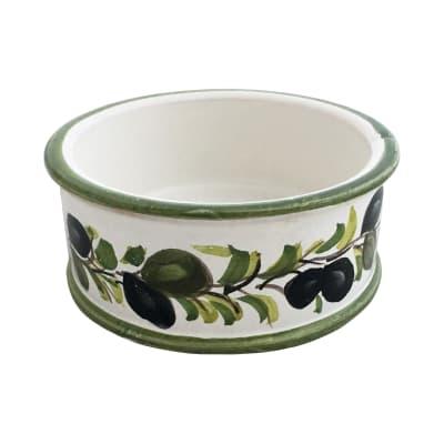 """Abbiamo Tutto """"Classic Olive"""" Ceramic Pet Bowl from Italy"""