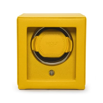 "Wolf ""Cub"" Yellow Leather Watch Winder"