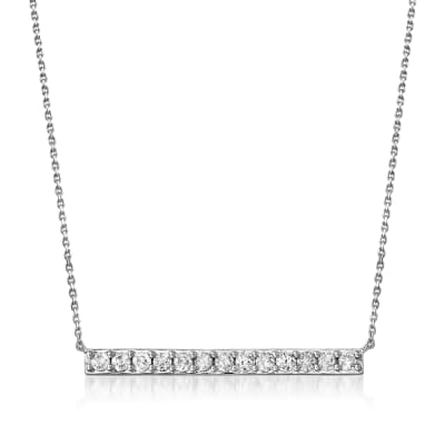 1.00 ct. t.w. Diamond Bar Necklace in Sterling Silver