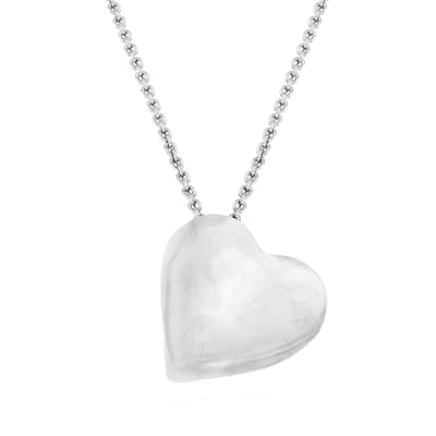 Italian Sterling Silver Heart Pendant Necklace