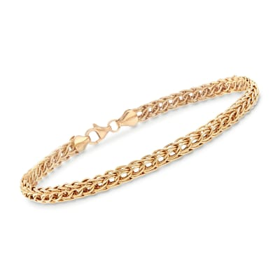 14kt Yellow Gold Braided Link Bracelet