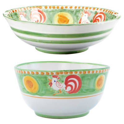 "Vietri ""Campagna Gallina"" Serving Bowl from Italy"
