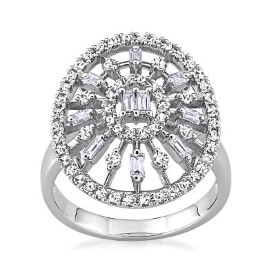.69 ct. t.w. Diamond Openwork Ring in 14kt White Gold