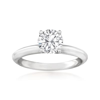 1.00 Carat Certified Diamond Engagement Ring in 14kt White Gold
