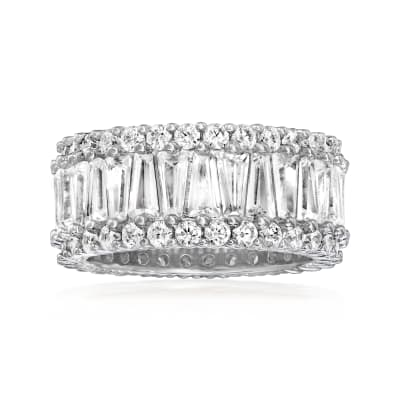 6.30 ct. t.w. CZ Eternity Band in Sterling Silver