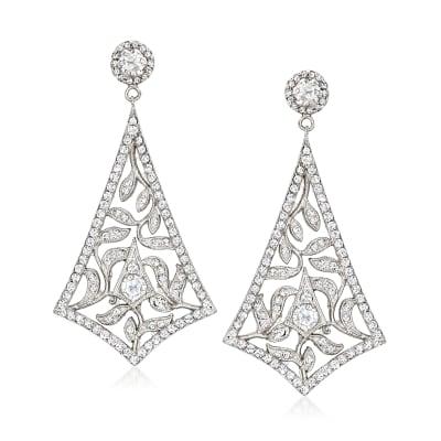 C. 1980 Vintage 2.05 ct. t.w. Diamond Drop Earrings in 18kt White Gold