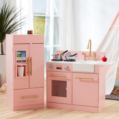 Child's Little Chef Chelsea Modern Play Kitchen in Pink