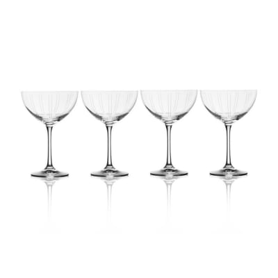 "Mikasa ""Berlin"" Set of 4 Champagne Glasses"