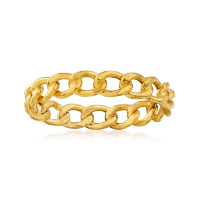 Italian 14kt Yellow Gold Curb-Link Ring