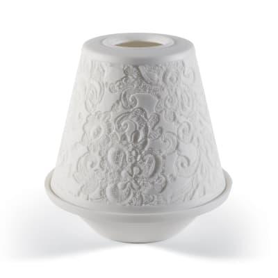 """Lladro """"Lace"""" Porcelain Lithophane Votive Light"""