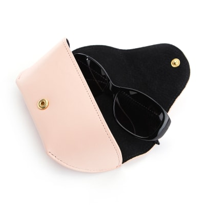 Royce Blush Pink Leather Sunglasses Case