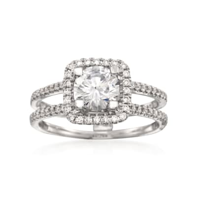 Simon G. .33 ct. t.w. Diamond Engagement Ring Setting in 18kt White Gold