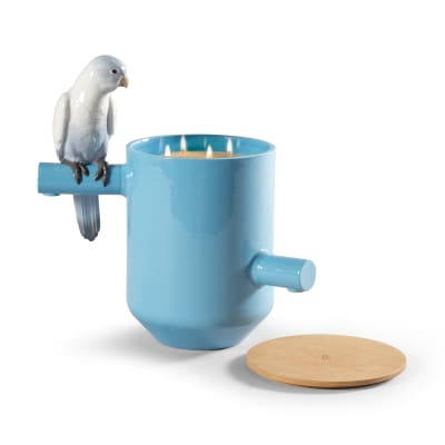 "Lladro ""Blue Parrot"" Scented Treasure Candle"