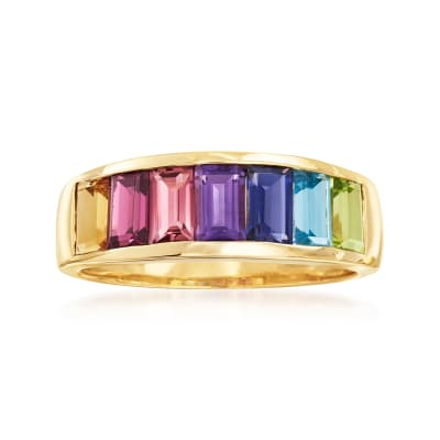 2.20 ct. t.w. Multi-Gemstone Ring in 14kt Yellow Gold