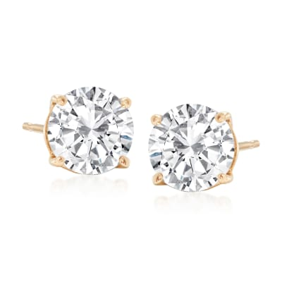 1.80 ct. t.w. Diamond Stud Earrings in 14kt Yellow Gold