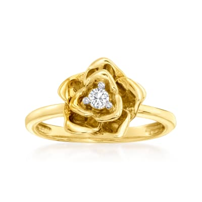 .10 ct. t.w. Diamond Rose Ring in 14kt Yellow Gold