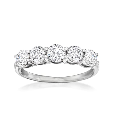 1.50 ct. t.w. Diamond Five-Stone Ring in 14kt White Gold
