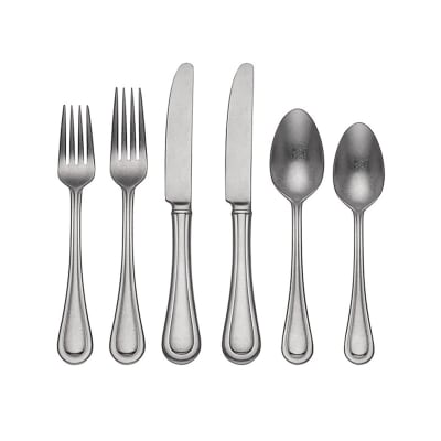 "Lenox ""Textured Neutrals"" 20-pc. 18/10 Stainless Steel Flatware Set"