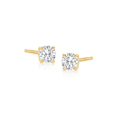 .15 ct. t.w. Diamond Stud Earrings in 14kt Yellow Gold