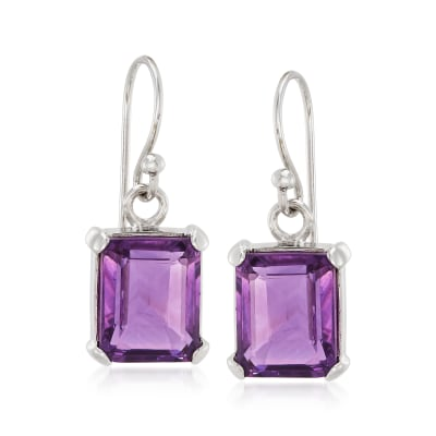 5.50 ct. t.w. Cape Amethyst Drop Earrings in Sterling Silver