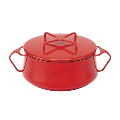 "Dansk ""Kobenstyle"" Chili Red Small Casserole Pan with Lid"