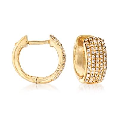 .25 ct. t.w. Diamond Huggie Hoop Earrings in 14kt Yellow Gold