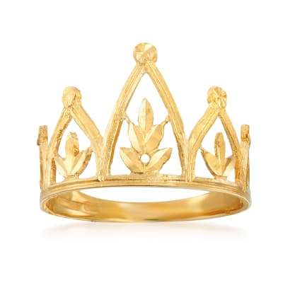 Italian 14kt Yellow Gold Crown Ring