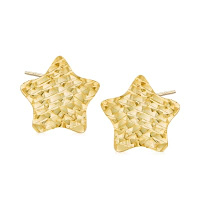 Italian 14kt Yellow Gold Star Stud Earrings