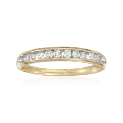 .25 ct. t.w. Diamond Wedding Ring in 14kt Yellow Gold
