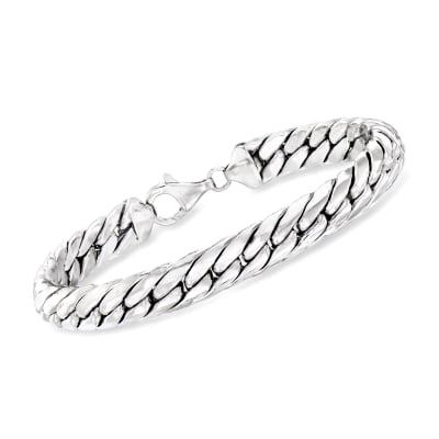 Sterling Silver Cuban-Link Bracelet