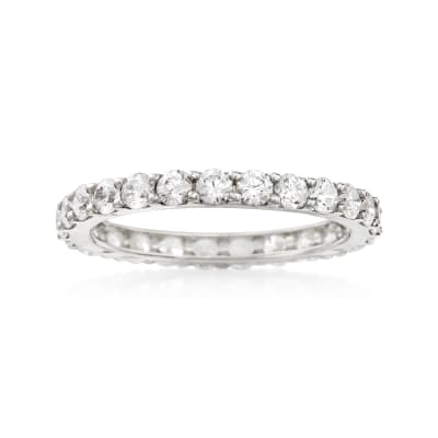 1.25 ct. t.w. CZ Eternity Band in 14kt White Gold