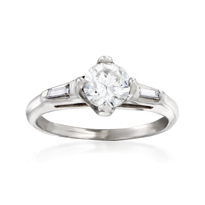 C. 1970 Vintage .80 ct. t.w. Diamond Ring in 14kt White Gold