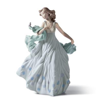 "Lladro ""Summer Serenade"" Porcelain Figurine"