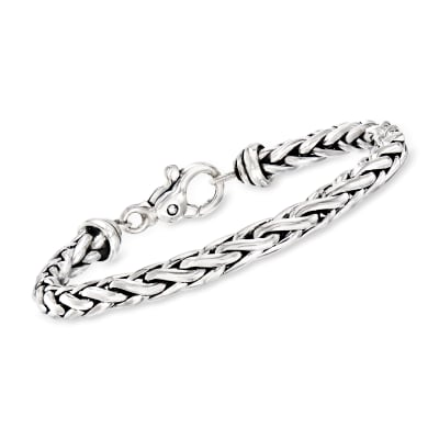 Zina Sterling Silver Wheat Chain Bracelet