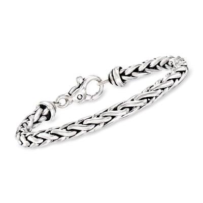 Zina Sterling Silver Wheat Chain Bracelet