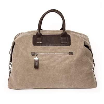 """Brouk and Co. """"Excursion"""" Khaki Waxed Canvas Weekender Bag"""