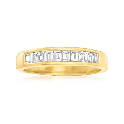 1.00 ct. t.w. CZ Ring in 18kt Gold Over Sterling
