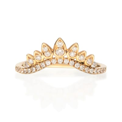 .27 ct. t.w. Diamond Crown Ring in 14kt Yellow Gold