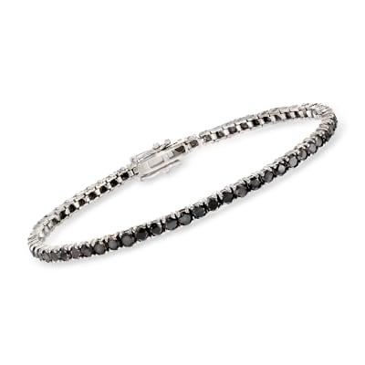 5.00 ct. t.w. Black Diamond Tennis Bracelet in 14kt White Gold