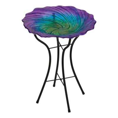 Regal Ripple Bird Bath with Stand