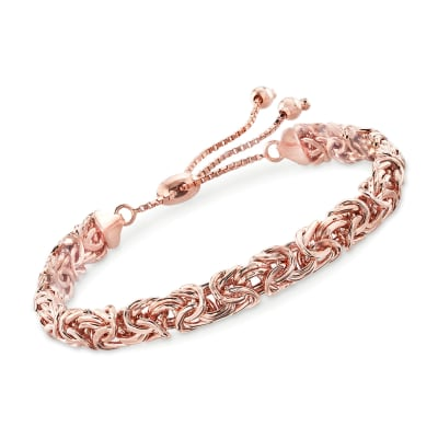 18kt Rose Gold Over Sterling Byzantine Bolo Bracelet