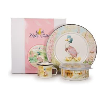 "Golden Rabbit ""Jemima Puddle"" 3-pc. Child's Dinnerware Gift Set"