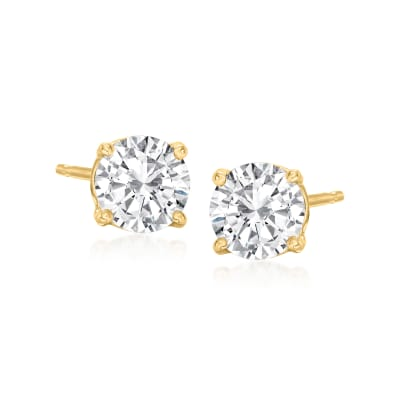 1.00 ct. t.w. Diamond Stud Earrings in 14kt Yellow Gold