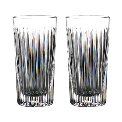 "Waterford Crystal ""Gin Journeys"" Set of Two Aras Highball Glasses"