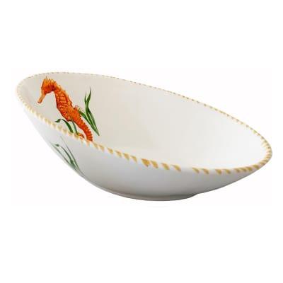 "Abbiamo Tutto ""Seahorse"" Ceramic Diagonal Bowl from Italy"