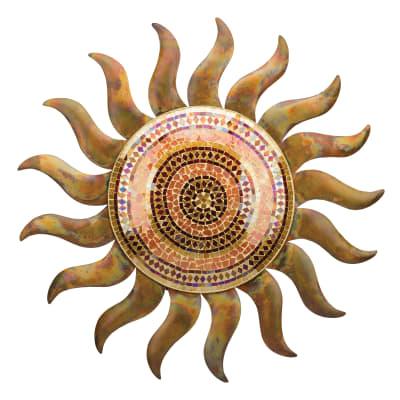 Flamed Copper Sun Decorative Wall Decor