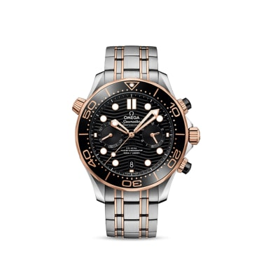Omega Speedmaster Diver Men's 44mm Automatic Stainless Steel and 18kt Rose Gold Watch