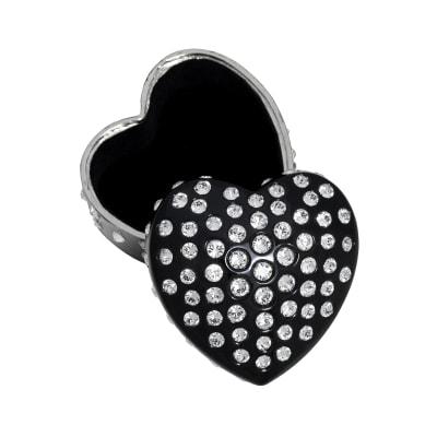 "Crystamas ""Forever Heart"" Swarovski Crystal Black Heart Jewelry Box"